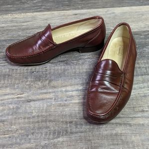 Church's red leather loafers